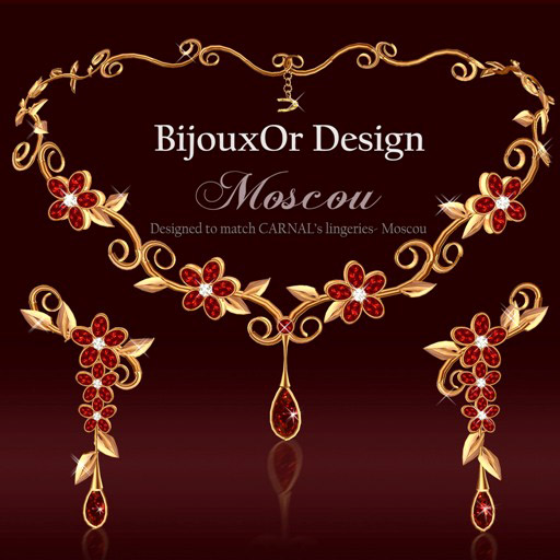 Moscou gold set red