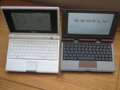 Celio Redfly and an EEE PC