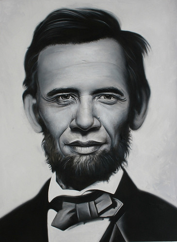 Abraham Obama by Ron English