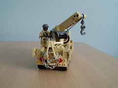 US Army wrecker (4) (Mad physicist) Tags: truck army model desert lego crane military minifig m44 minifigure wrecker