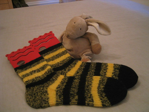 Finished Bumblebee Socks