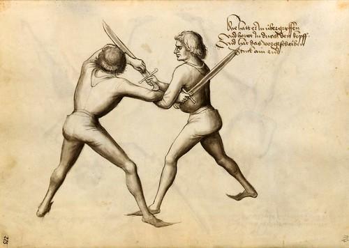 09-Lucha de esgrima sin armadura con el cuchillo largo 114r