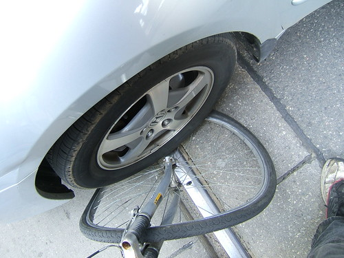 My Bike Wheel Meets A Useless Toronto Driver