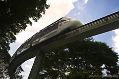 Jurong monorail (blu_barbie) Tags: trees train singapore transit monorail jurong