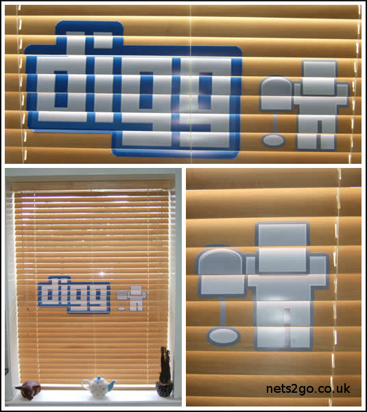 Digg Venetian Blinds  with  Digg Logo