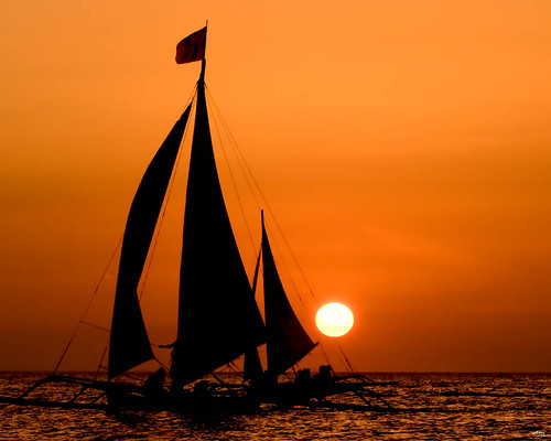 of sailboat & sunset...
