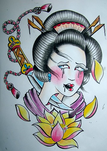 geisha watercolor