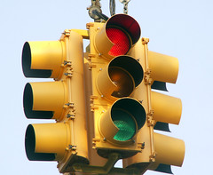 Driving Dilemma:  What Do You Do When The Light Turns Red AND Green?