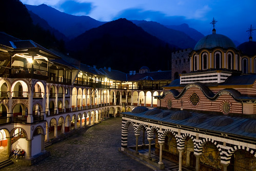 Rila Monastery by Night