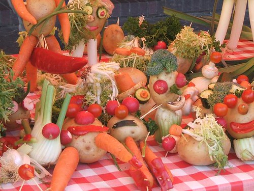 Vegetable sculptures