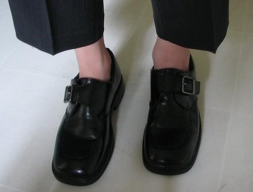 Boring Office Guy doesn't wear socks