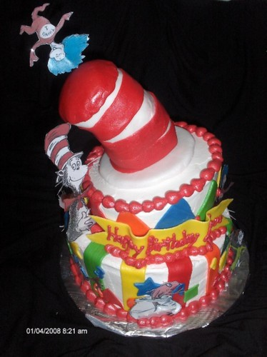 cat in a hat cake. Cat in the Hat cake. wonky cake