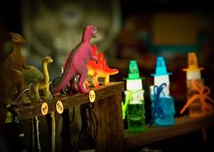 Sidewalk Toy Store (Blush Response) Tags: toys washington spokane dinosaurs fauxlomo riverfrontpark spokanewashington fauxlomography