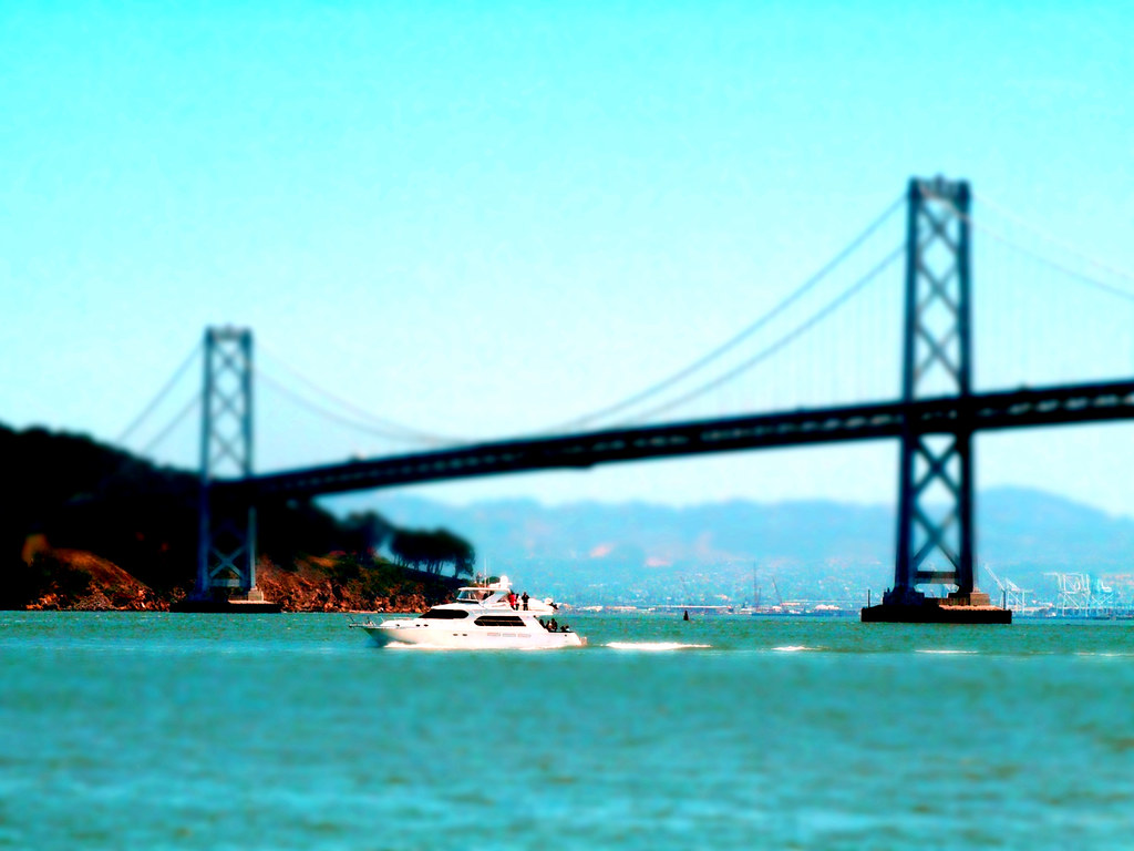 bay bridge, boat
