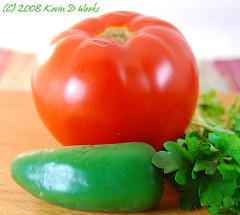Tomato, Pepper, Cilantro