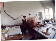me in my studio 2001 (ulaniulani) Tags: 2001 sculpture art me tea bags studing hfbk hambung