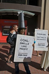 Coal smells like profit - Bank of America protest