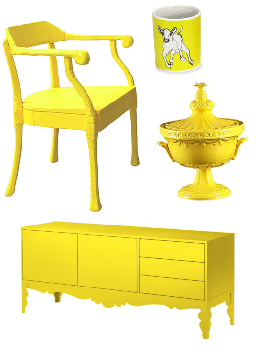 yellow housewares