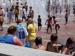 Cooling Off 2 (mjn9) Tags: atlanta hot water fountain kids ga georgia centennialolympicpark flickrchallengegroup