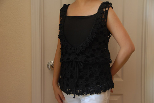 Long Lacy Vest Modeled