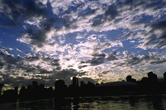 By the Dragon Boat Docks (Georgie_grrl) Tags: sunset sky vancouver clouds britishcolumbia dramatic falsecreek pentaxk1000 creeksidepark cans2s rikenon12828mm