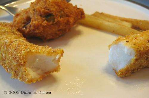 Fish & Chips: French Fries, Hushpuppy and Fish