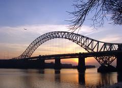 Runcorn bridge (Mr Grimesdale) Tags: bridge sunset reflection sony mersey runcorn widnes rivermersey runcornbridge mrgrimsdale stevewallace runcornwidnesbridge dsch2 photofaceoffwinner pfosilver mrgrimesdale