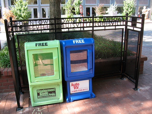 Downtown Louisville Newspaper Box Corral