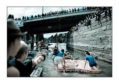La course (yanseiler) Tags: travel lake water canon river switzerland see suisse geneva geneve course squat squatter rhone romandie radeau romand
