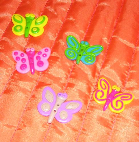 Botões borboletas