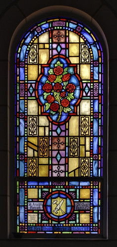 Saint John the Baptist Roman Catholic Church, in Villa Ridge (Gildehaus), Missouri, USA - stained glass window