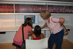 Learning about the exhibits