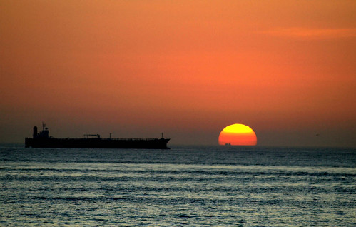 tanker sunrise