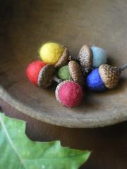 color! (lilfishstudios) Tags: wool felted fun colorful handmade craft etsy acorns lilfishstudios autumn