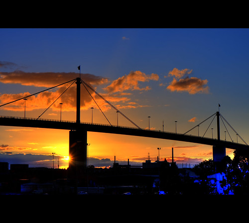 Westgate Bridge at sunset