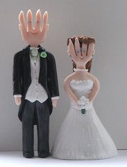 Wedding Cake Toppers of Mr and Mrs Fork (pauline@weddingtreasures) Tags: flowers groom bride veil handmade unique military fimo figurines clay sculpey custom personalised polymer weddingcaketopper weddingattire