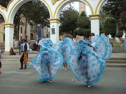 Traditional Bolivian dance. Potosi, Bolivia.