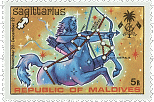 Maldive-Islands Sagittarius Stamp