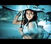 Mysterious Girl (Yug_and_her) Tags: life people woman india macro film water girl rain umbrella drops nikon candid indian touch human actress bollywood hyderabad incredible kajal 105mm telugu tollywood agarwal infinestyle