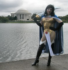 Mantra and the Jefferson Memorial (rgaines) Tags: halloween drag costume cosplay jeffersonmemorial mantra crossplay ultraverse