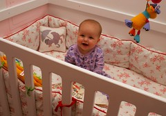 Bedtime for Annabelle! (delfuego) Tags: diy annabelle nursery bumper crib bedtime pajamas eyefi