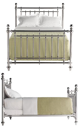 Nursery Furniture: Nickel-Plated Bed
