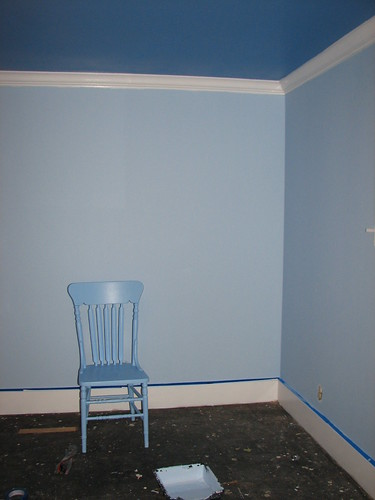Light blue walls with dark ceiling hbm blog dark blue ceiling light walledium chair for the guest room aloadofball Images