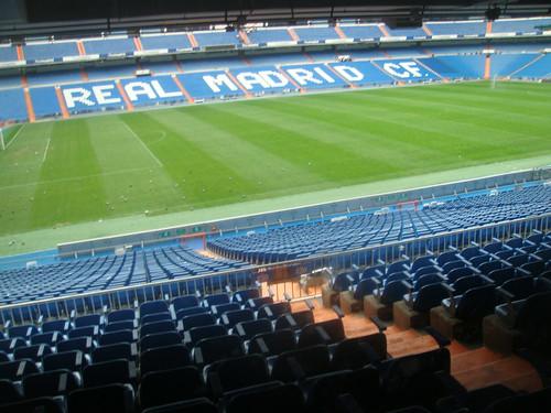 Vistas del estadio Santiago Bernabeu