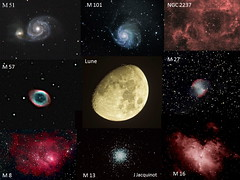 Night beauties captured in 2008 (Trois_Merlettes) Tags: sky moon deep astrophotography m8 m57 m51 galaxies stl m16 meade m101 m13 m27 nebulae ngc2237