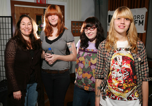Cheryl Waters with Vivian Girls (photo by Doron Gild)