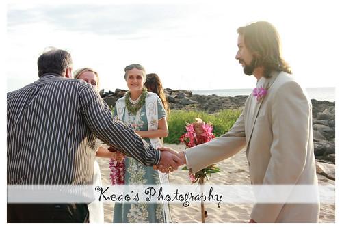 THe bridal handoff-E and A's wedding