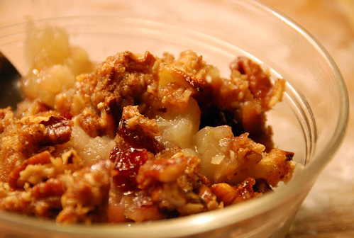 Apple Ginger Pecan Crisp