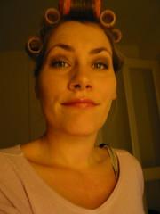 ach...dat wird scho (AboPics) Tags: mirror diy ausgehen haircurlers lockenwickler