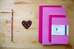 moleskine love (sevenworlds16) Tags: hello pink moleskine pencil notebook heart large kitty these notebooks xsmall volant i